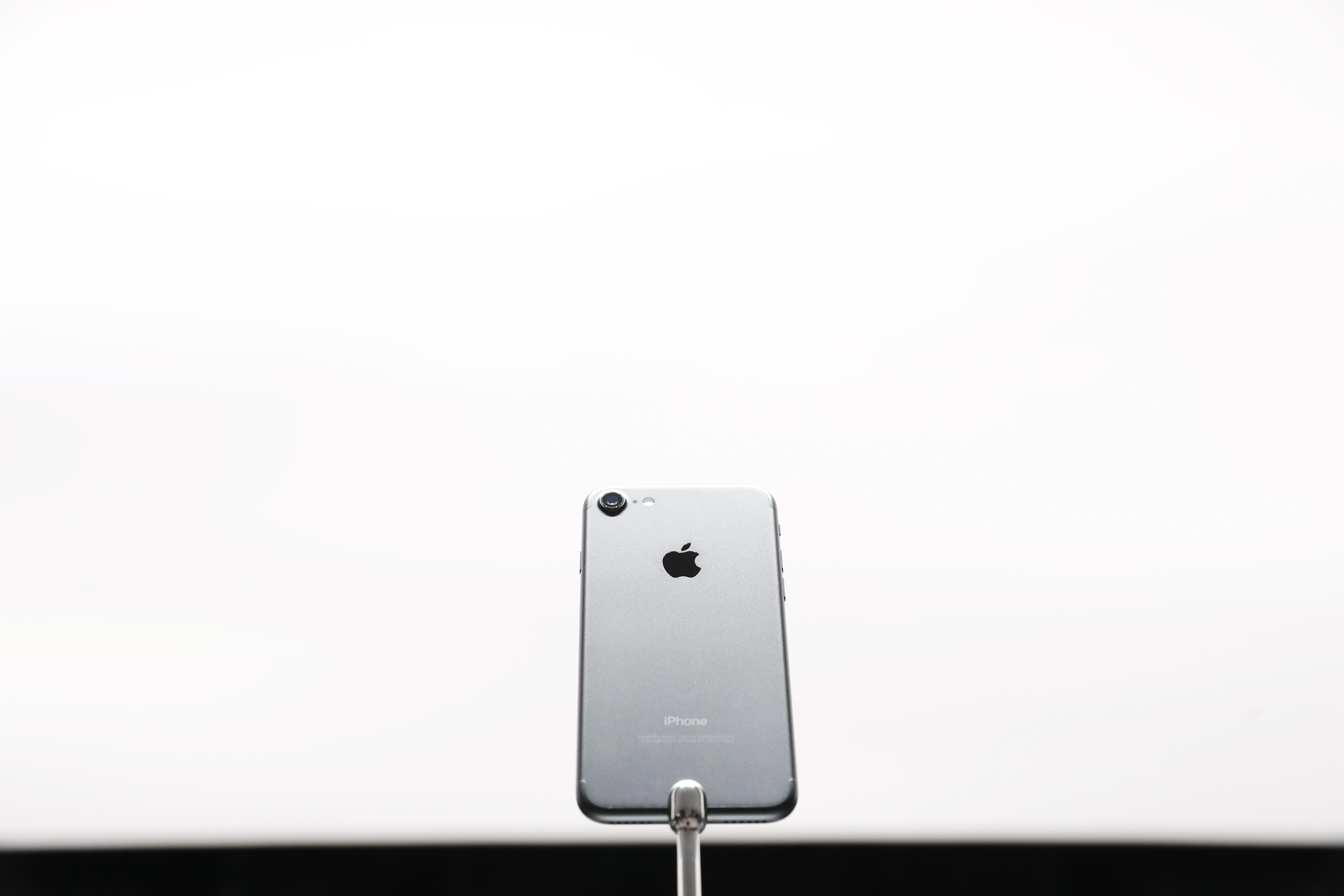iPhone unit white