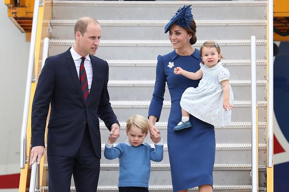 Prince William, Prince George, Princess Charlotte and Kate Middleton