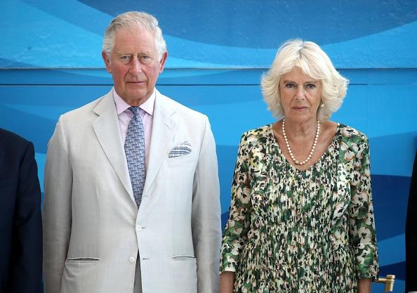 Camilla Parker-Bowles Stuns In Polka Dot With Handsome Officer Sans Prince Charles