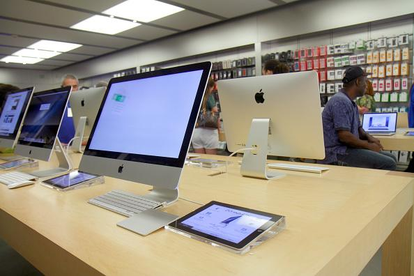 The Apple Store retail display in The Galleria at Fort Lauderdale.