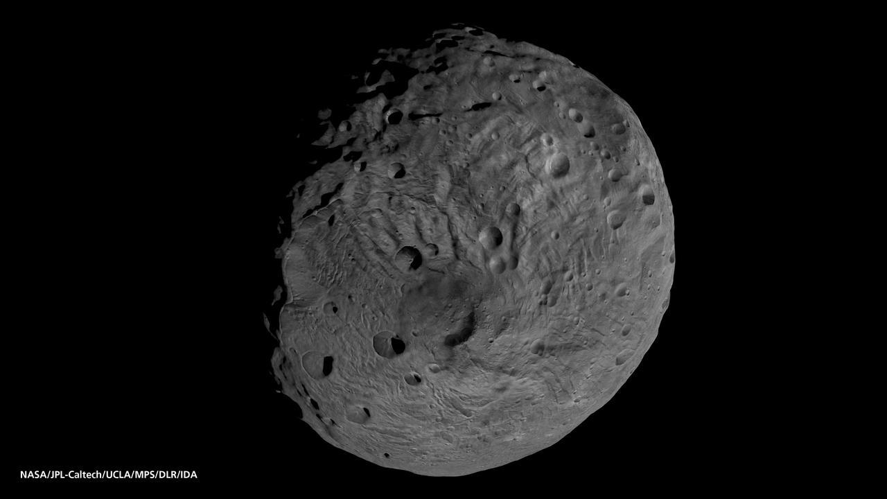 NASA Dawn south pole asteroid Vesta