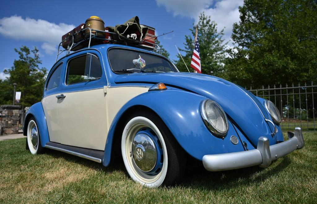 A 1964 VW Beetle, driven to the festival 50 years ago, has returned to the Bethel Woods Center for the Arts, the site of the original 1969 weekend of peace, love and music