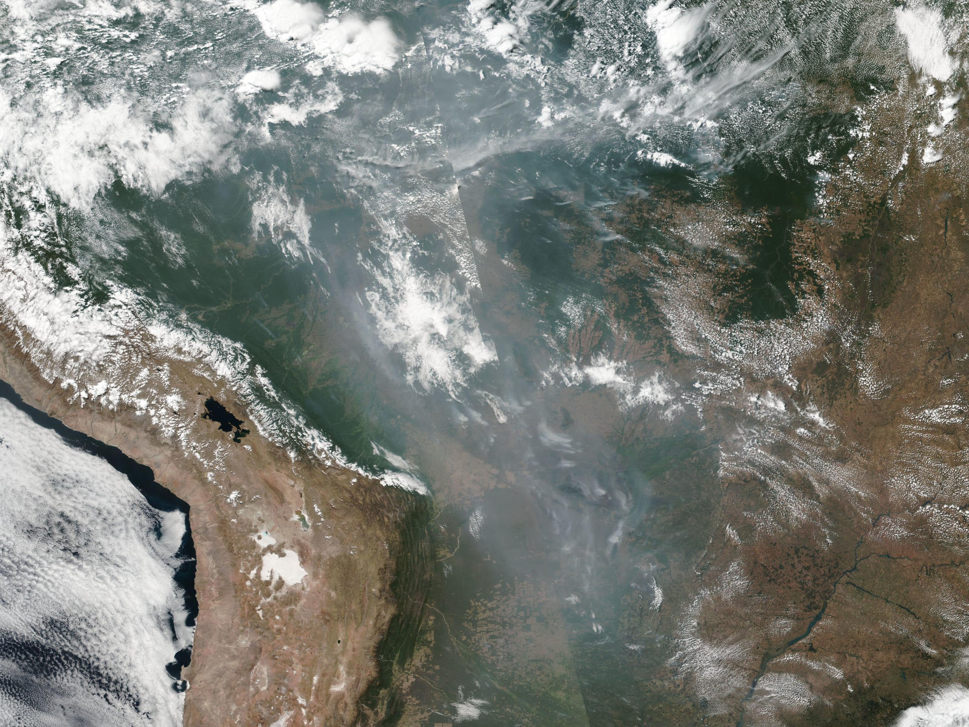 Amazon Rainforest Fire from Space