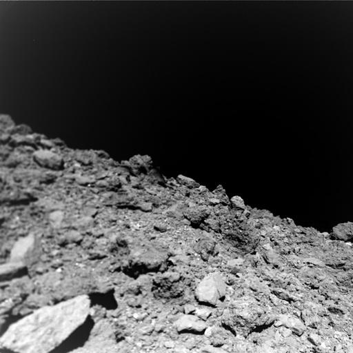This undated photo courtesy of Jaumann et. al., Science 2019, shows a new image taken by the German-French Mobile Asteroid Surface Scout (MASCOT) on the surface of the near-Earth asteroid Ryugu