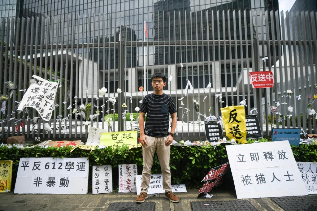 Hong Kong activist Joshua Wong and two others arrested