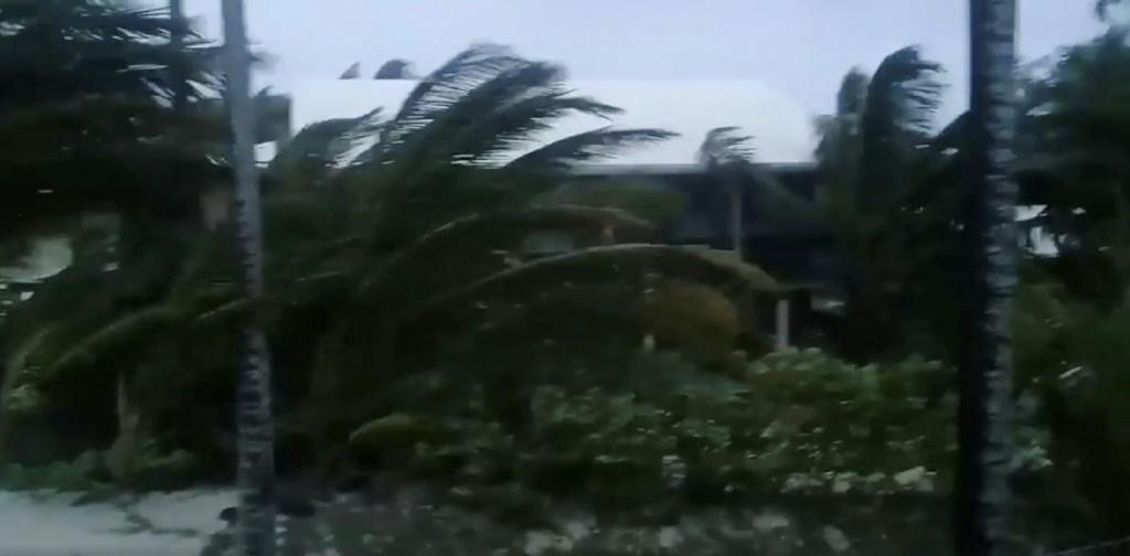This video grab handout Facebook image obtained September 1, 2019 courtesy of Rich Roberts shows storm activity in Man-O-War Cay, Abaco Islands, Bahamas