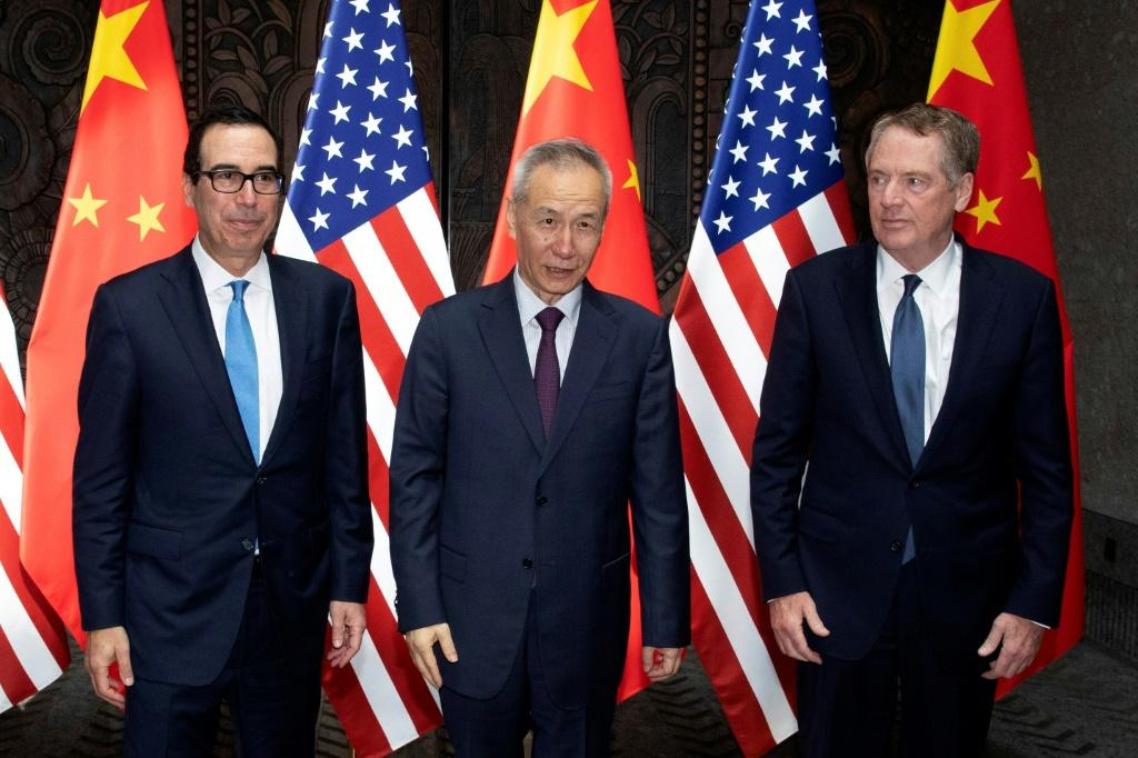 High-level US-China trade talks are expected to resume in October for the first time since this July meeting with Chinese Vice Premier Liu He (C), US Trade Representative Robert Lighthizer (R) and Treasury Secretary Steve Mnuchin