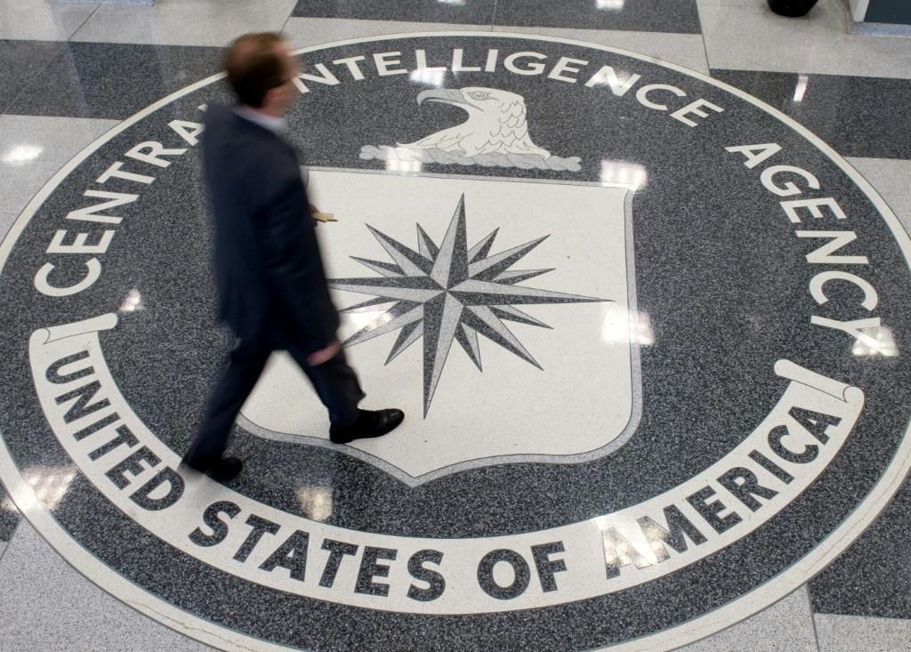 The Central Intelligence Agency's seal on the floor of its headquarters in Langley, Virginia