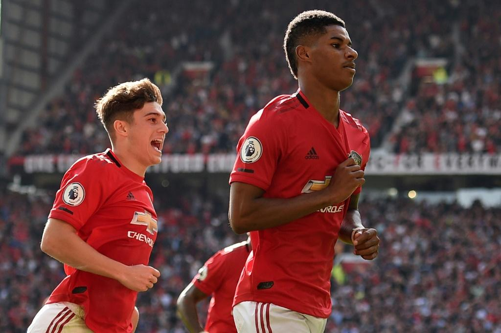 On the spot: Marcus Rashford's penalty gave Manchester United a 1-0 win over Leicester