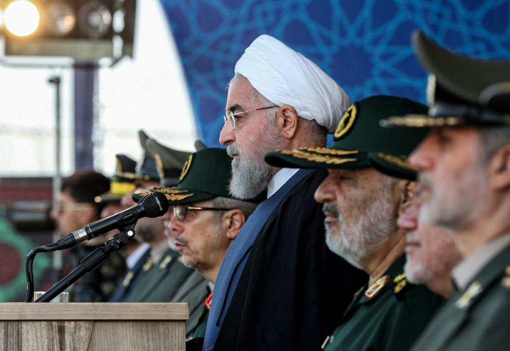 President Hassan Rouhani said at an annual military parade that Iran would put foward a peace plan to the United Nations