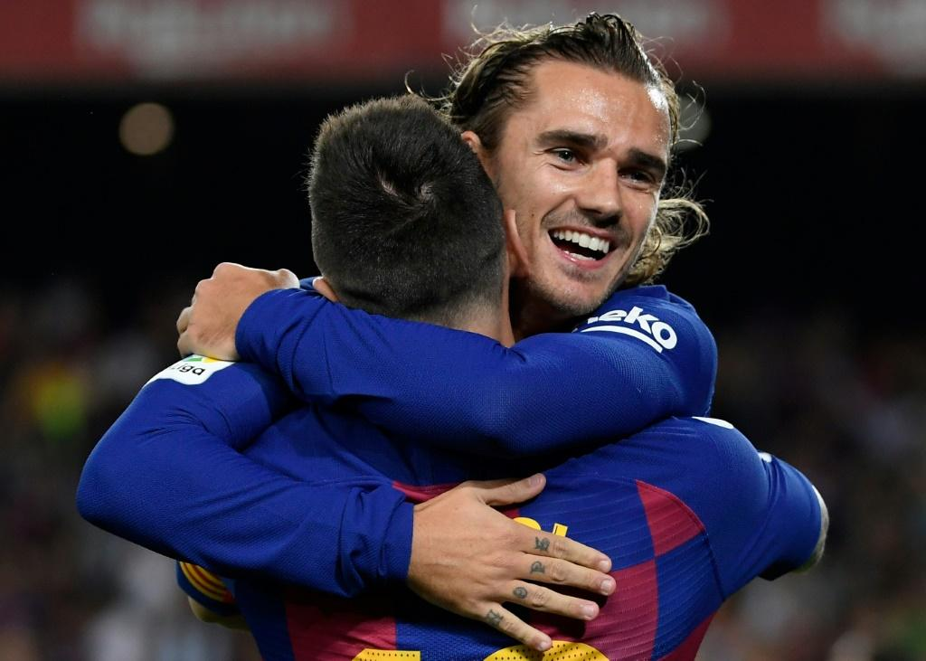Griezmann scored his third goal for Barcelona