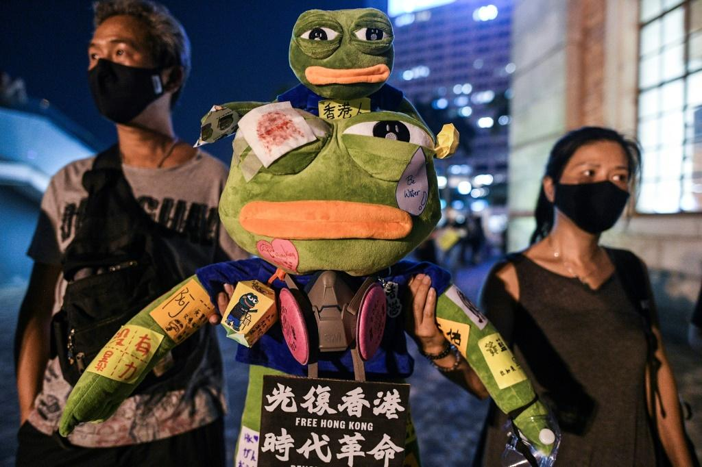 Hong Kong democracy protestors have embraced Pepe the Frog as a symbol of their resistance