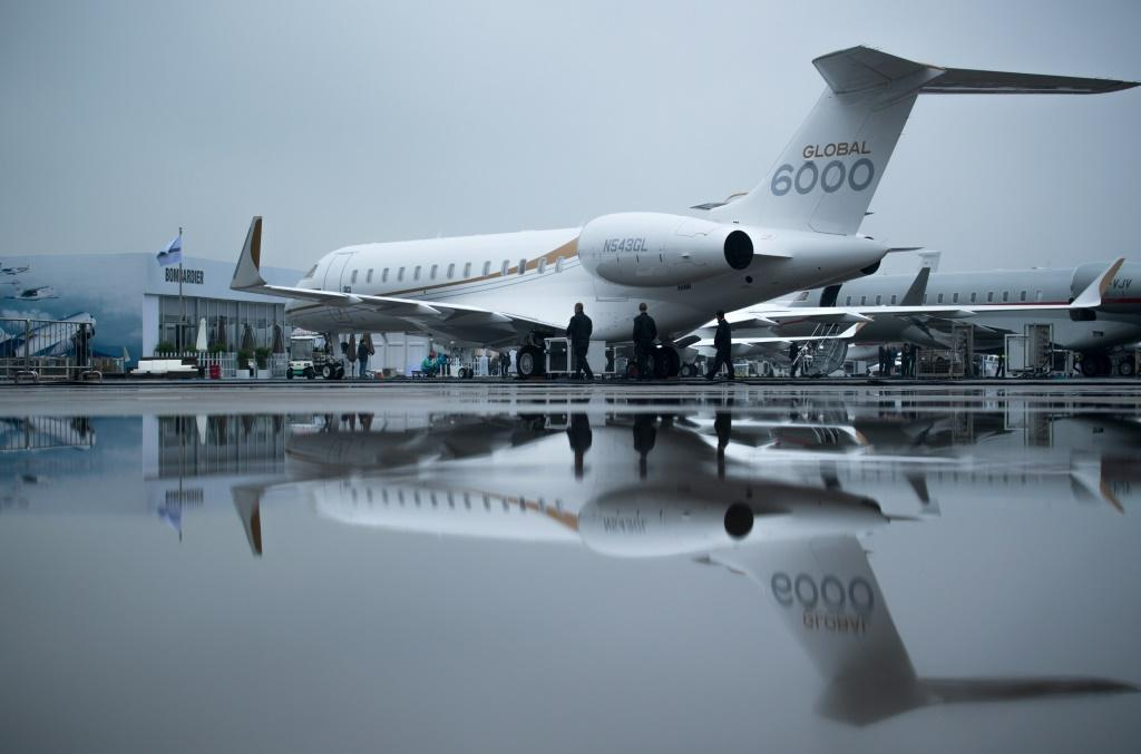 Canadian exports jumped on the back of strong aircraft shipments, including of business jets like the Bombardier Global 6000