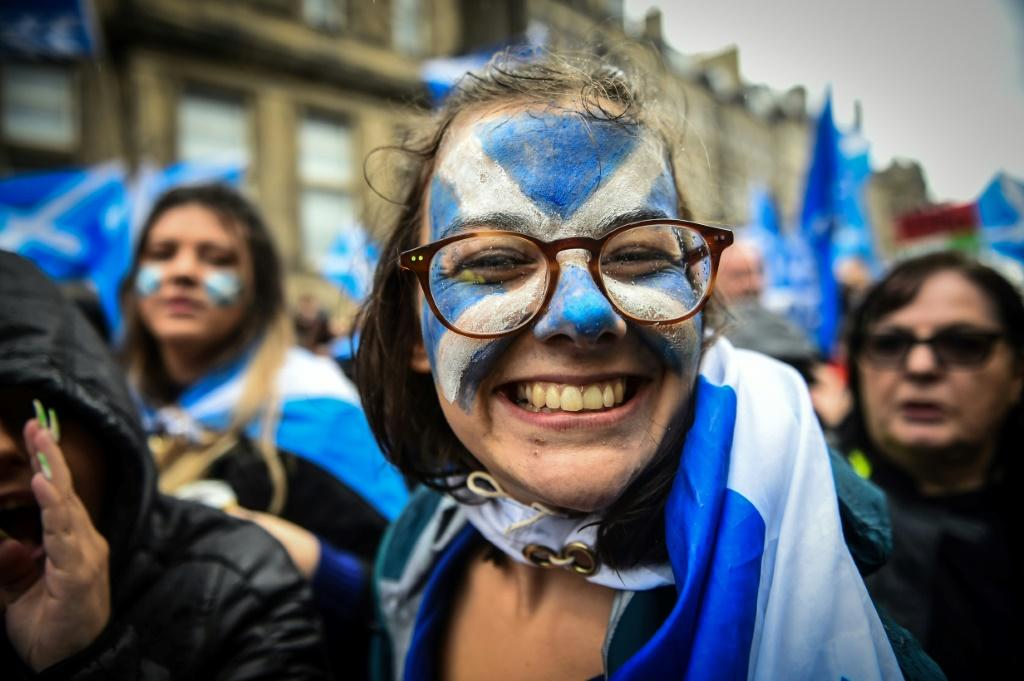 The march set off from Holyrood Park and marched up the Royal Mile in the heart of the Scottish capital