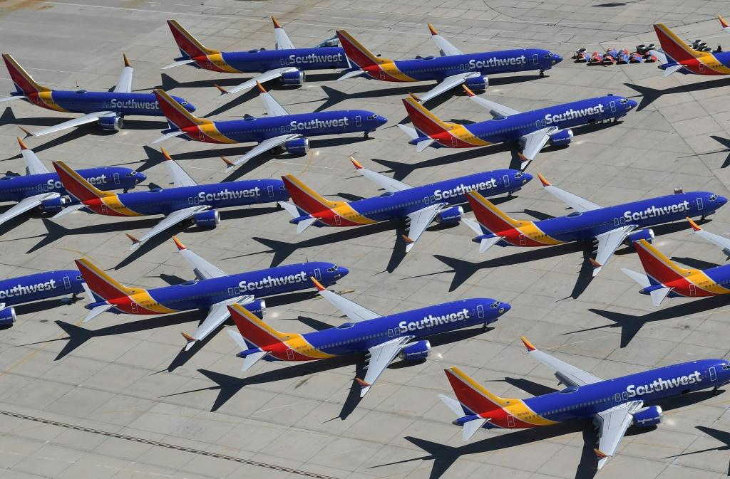 Boeing delivered just 63 commercial planes compared to 190 a year ago, due to the grounding of its topselling 737 MAX which continues to dent results
