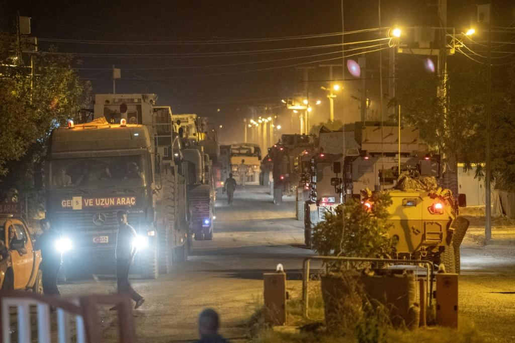 Turkey sent more military vehicles to the border with Syria on Tuesday