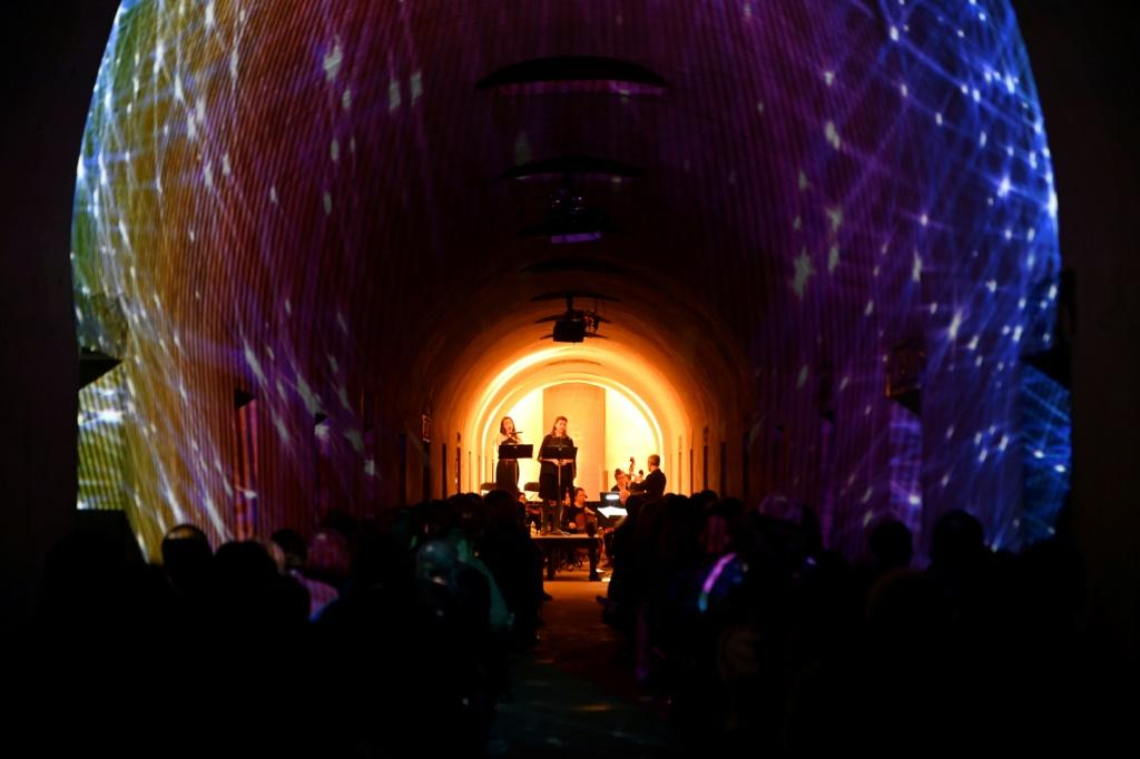 """After debuting his """"Crypt Sessions"""" series -- an intimate show heldin the crypt of Harlem's Church of the Intercession -- in 2015, Ousley began curating shows in the National Historic Landmark cemetery, using the 1850s-era catacombs as a venue"""