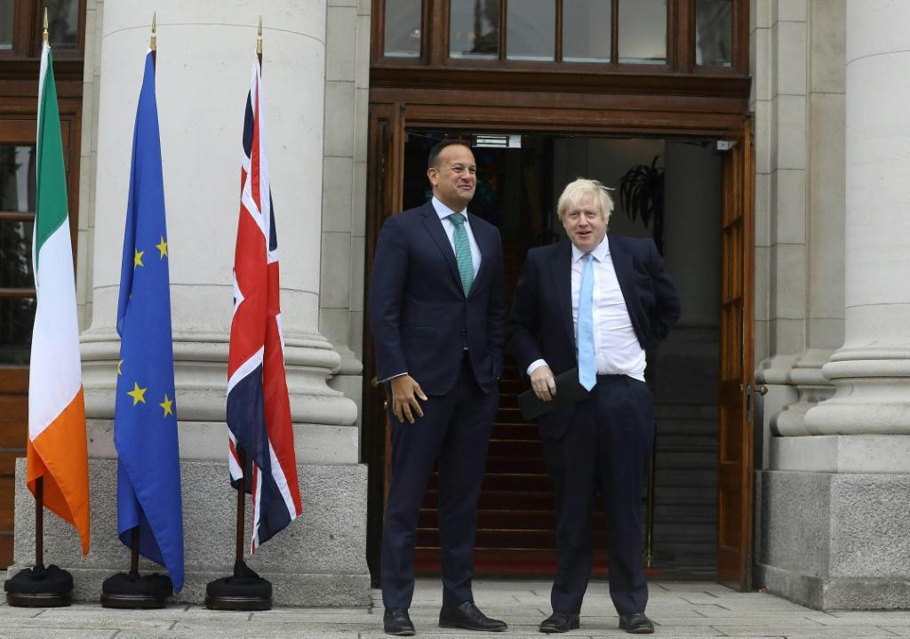 Leo Varadkar and Boris Johnson, seen last month in Dublin, will meet once again as time runs out to sign off on any agreement ahead of next week's EU summit with Johnson insisting Britain will leave the bloc at month's end come what may