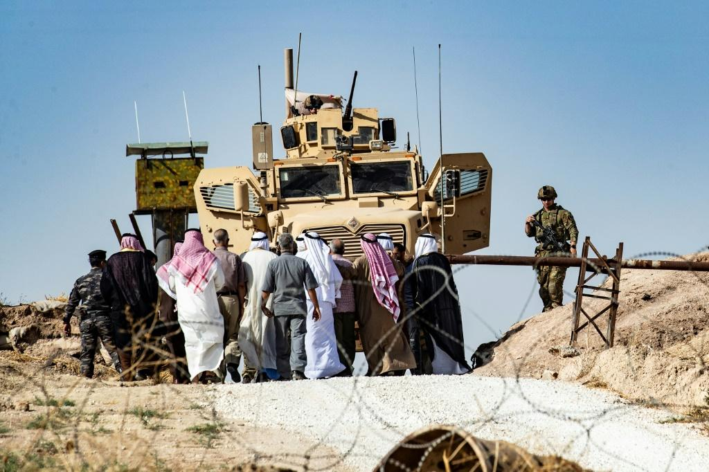 Syrian Kurds have organised protests across the northeast against Turkey's invasion plans across the northeast, including outside bases of the US-led coalition