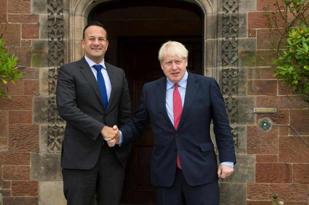Varadkar, pictured with Johnson, has said he would work 'until the last moment' to get a deal but not at any cost