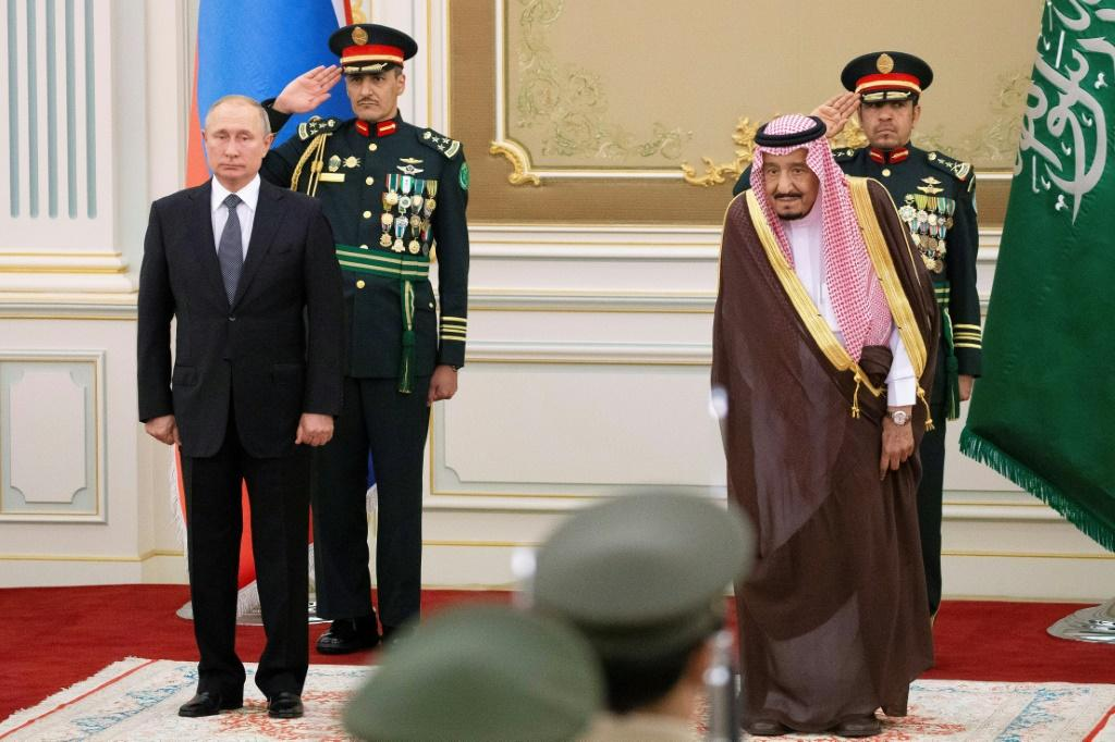 Russian President Vladimir Putin and Saudi Arabia's King Salman are set to discuss oil and tensions with Iran
