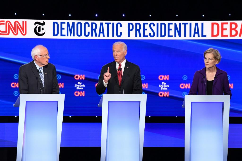 Liberal Bernie Sanders, former vice president Joe Biden and progressive Elizabeth Warren are vying to challenge Donald Trump for White House in 2020
