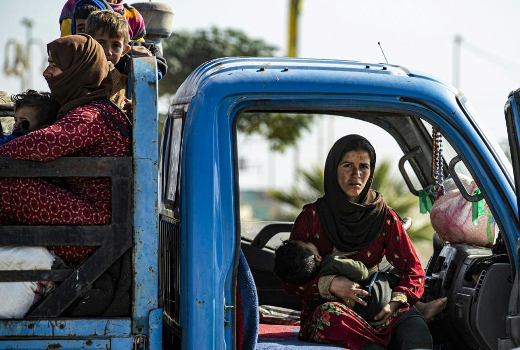 Tens of thousands of Syrian civilians have fled the fighting