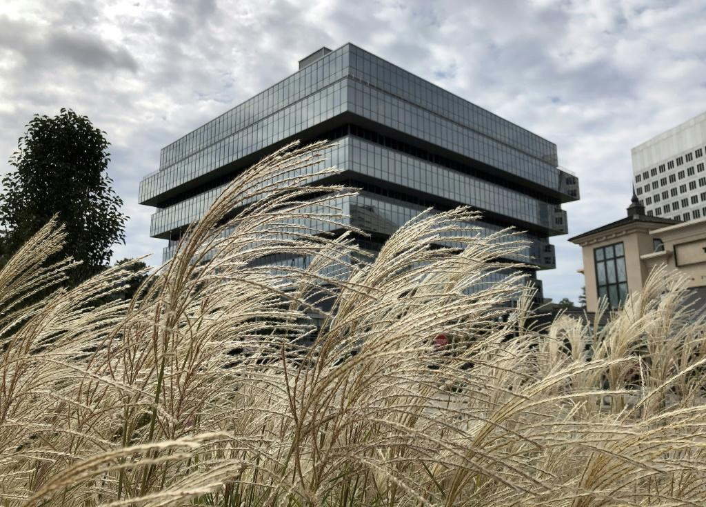 The Stamford, Connecticut headquarters of Purdue Pharma -- makers of OxyContin, a painkiller at the center of the US opioid crisis