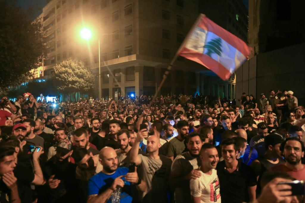 Thousands have taken to the streets across Lebanon to protest dire economic conditions after a government decision to tax calls made on messaging applications