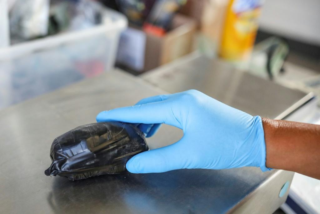 A packet of fentanyl seized at California's San Ysidro border post on October 2, 2019