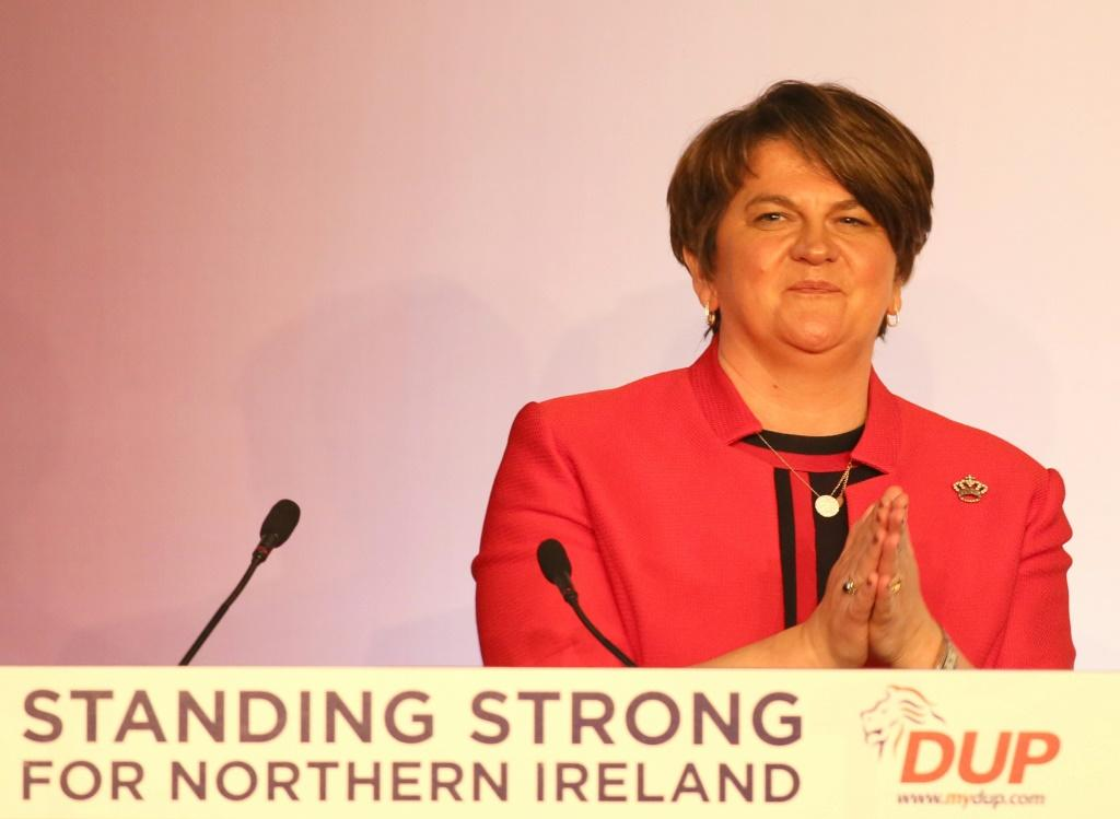 Arlene Foster leads Northern Ireland's DUP, which has vowed to oppose the Brexit deal