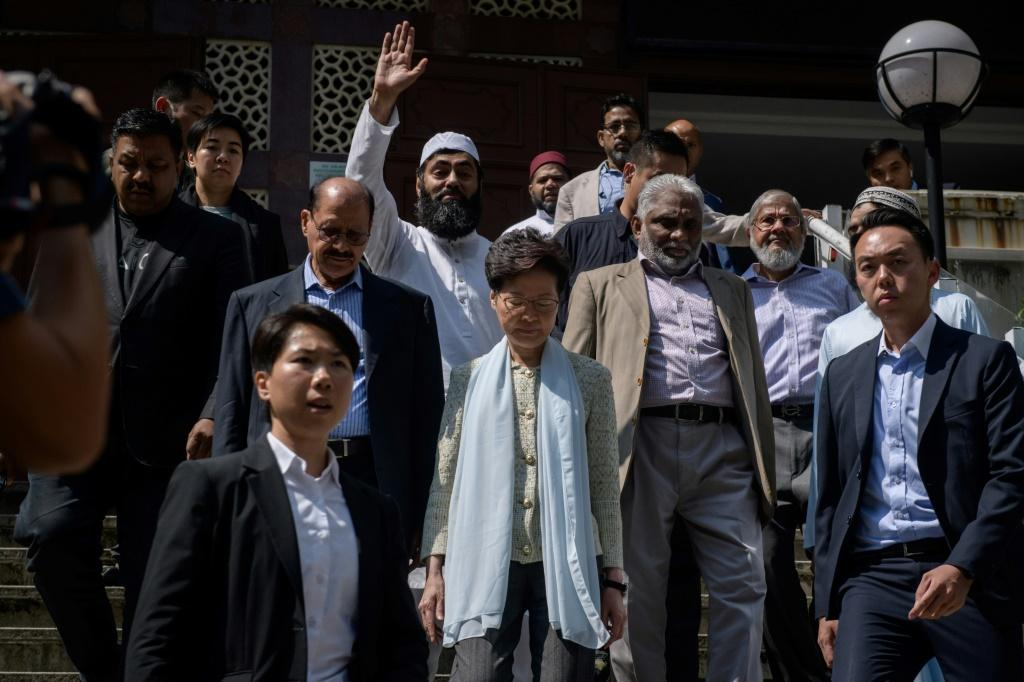 Kowloon Mosque representatives said Hong Kong leader Carrie Lam apologised for the dye incident, and that it was accepted