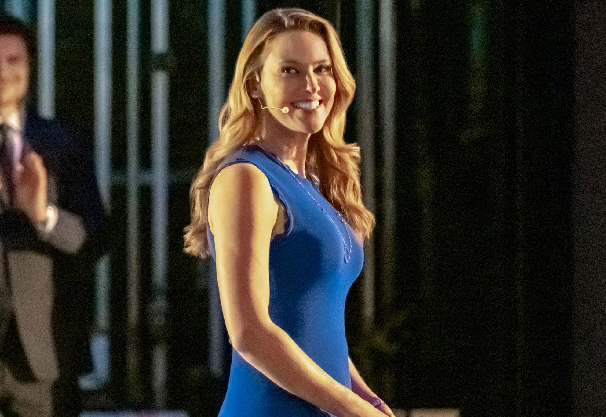 jill wagner hallmark blue dress