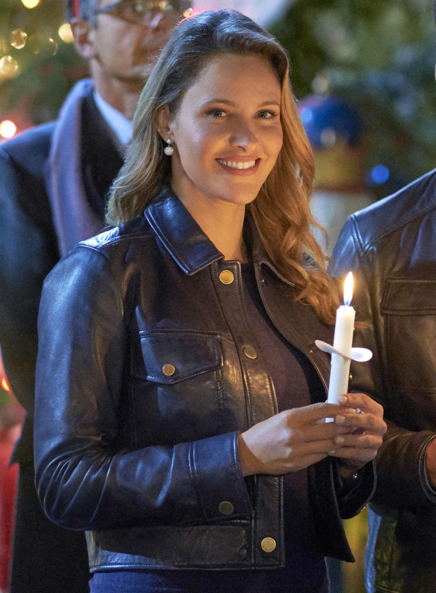 jill wagner hallmark leather jacket