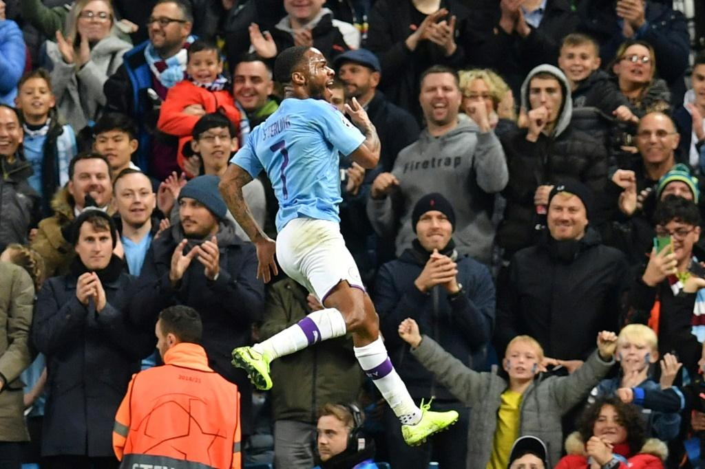 Raheem Sterling's quick-fire treble helped Manchester City to a 5-1 win over Atalanta