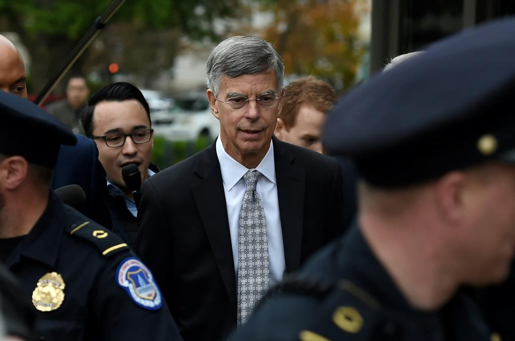 US acting ambassador to Ukraine Bill Taylor arrives at the US Capitol to testify before the House Intelligence, Foreign Affairs and Oversight committees as part of the ongoing impeachment investigation of President Donald Trump