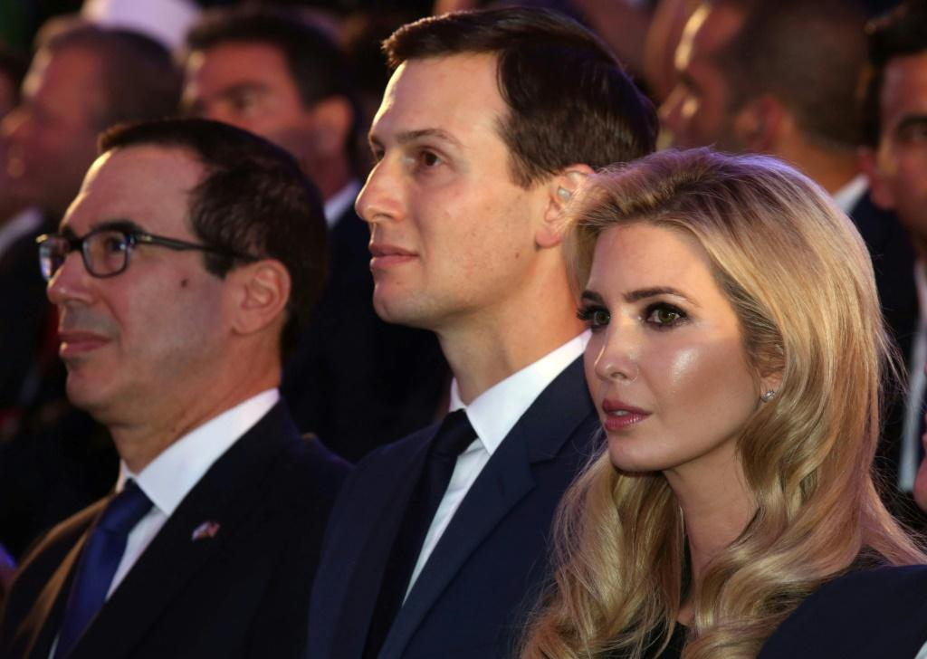 White House adviser Jared Kushner (C) and US Treasury Secretary Steve Mnuchin (L) will attend the Future Investment Initiative in Riyadh, reports say