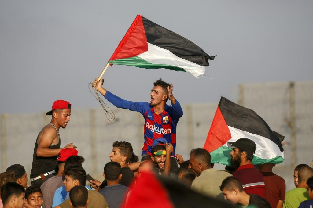 The March of Return protests were launched in March 2018 by Palestinian civilian society groups to protest Israeli's decades-long crippling blockade of the impoverished Gaza Strip