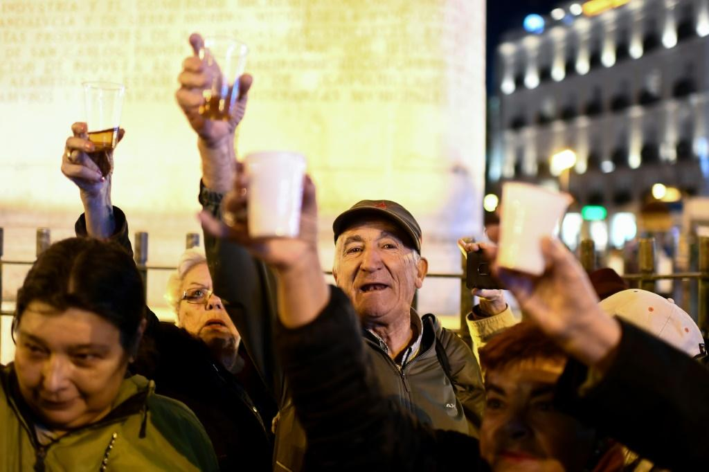 There were joyful scenes in Madrid after Franco's remains were moved