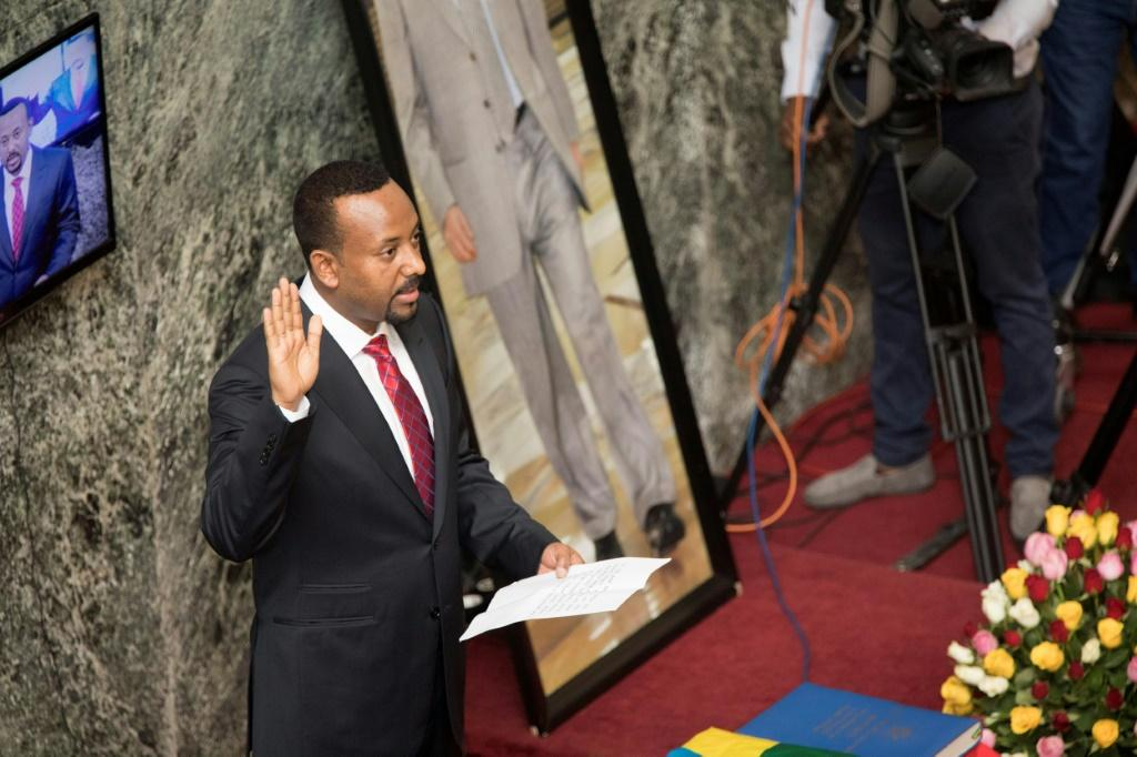 April 2 2018: Abiy Ahmed takes the oath of office as prime minister