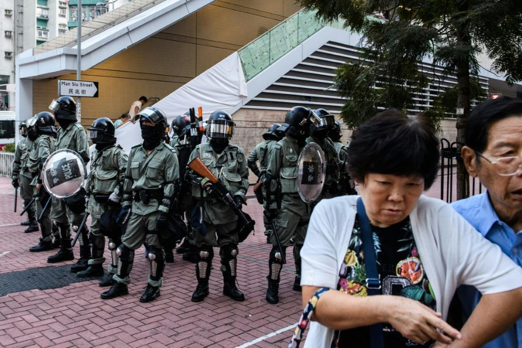 With no political solution on the table, the city's police have been largely left to deal with the protesters