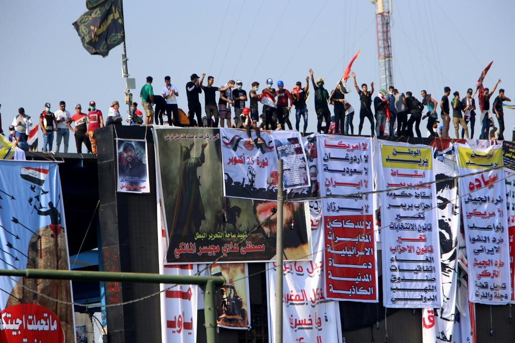 Iraqi protesters occupied Baghdad's emblematic Tahrir Square for an eighth consecutive day