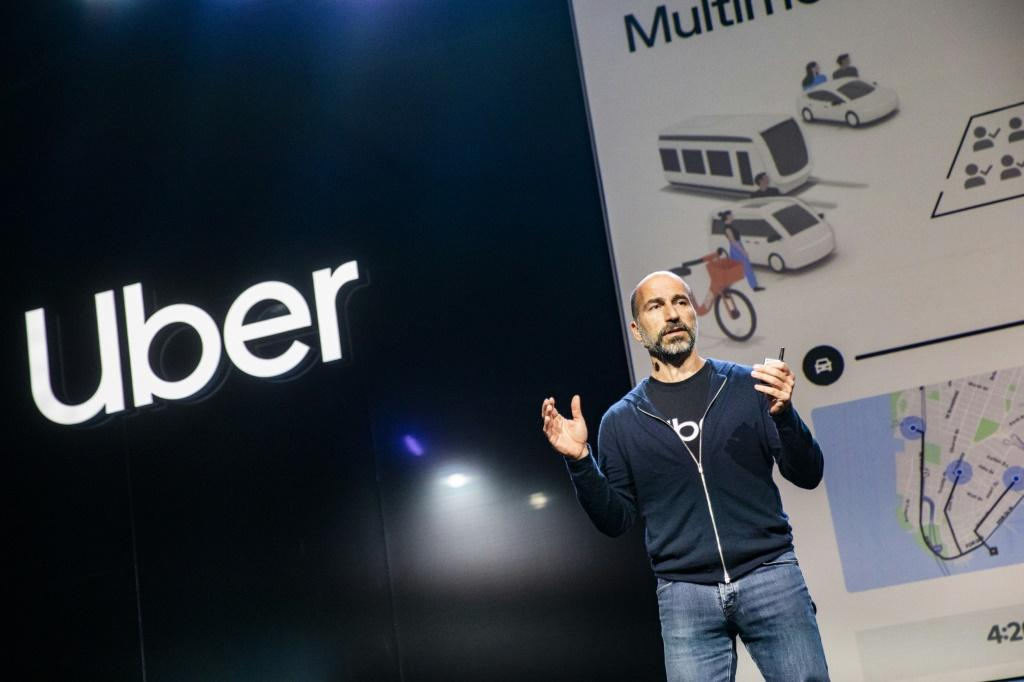 Uber CEO Dara Khosrowshahi says that despite wider losses, the company's core rideshare business is moving toward profitability