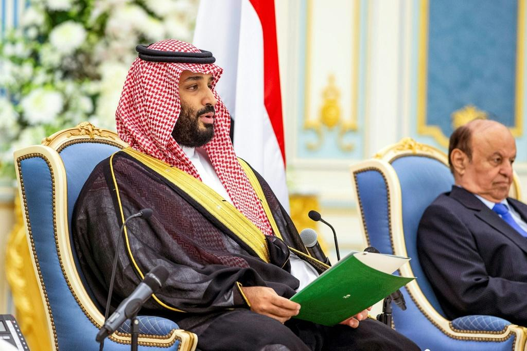 The government of Crown Prince Mohammed bin Salman (L), is implicated in the alleged plot to use Twitter data to spy on Saudi dissidents