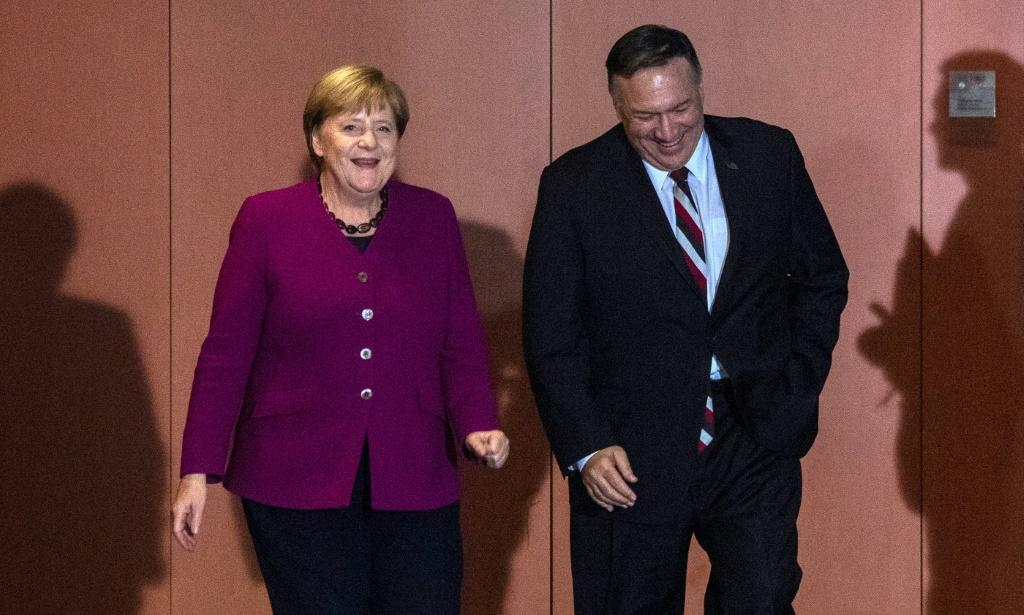 """US Secretary of State Mike Pompeo warned during a visit to Berlin to meet with Chancellor Angela Merkel that """"freedom is never guaranteed"""