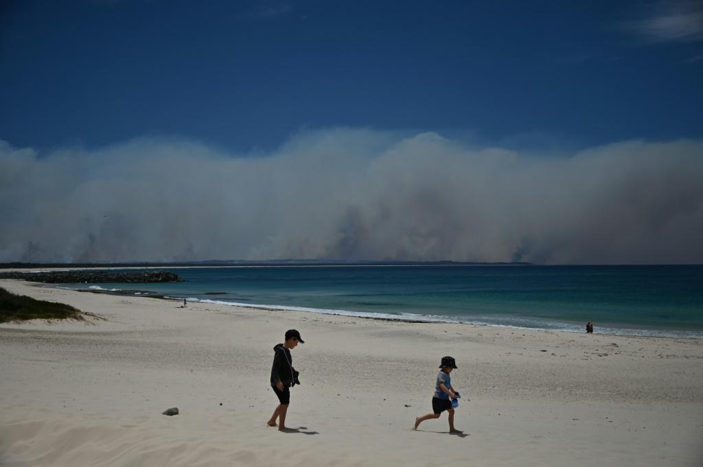 In the normally picturesque coastal town of Forster, vast plumes of smoke shot out from multiple blazes