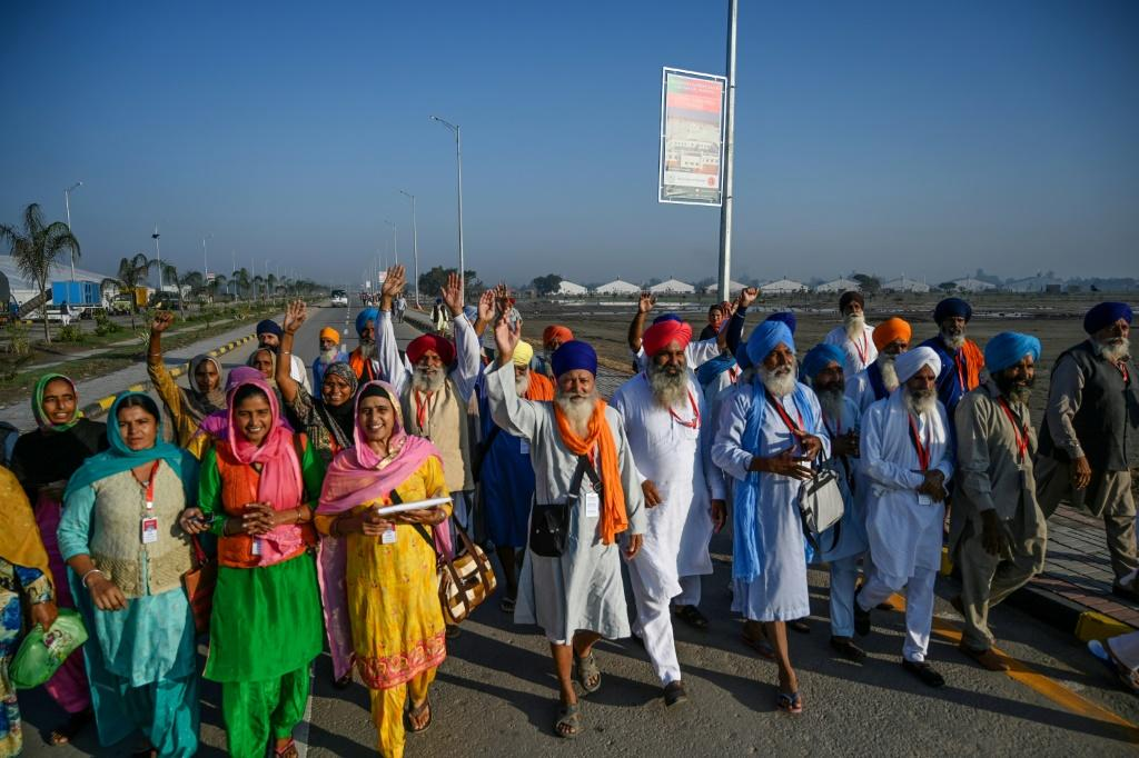 Sikh pilgrims from around the world have been arriving at the Shrine of Baba Guru Nanak Dev
