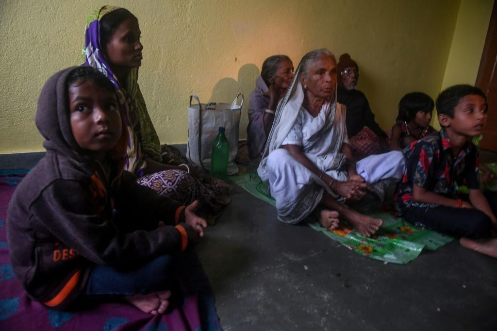 Villagers in Bakkhali took shelter inside a relief centre as Cyclone Bulbul approached