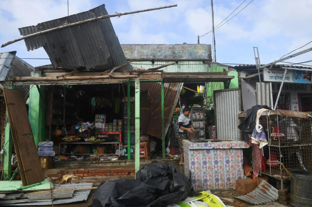 Cyclone Bulbul packed winds of up to 120 kilometres (75 miles) per hour when it made landfall