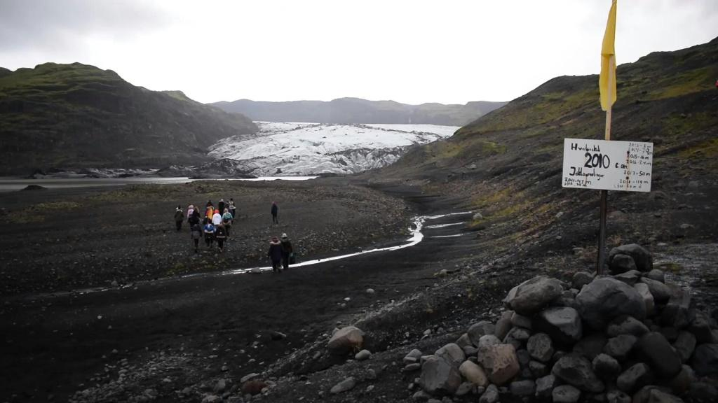Icelandic sixth-grade students take an unusual field trip to measure the Solheimajokull glacier, recording how much it has shrunk in the past year and witnessing climate change first-hand